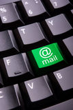 E-mail symbol on a keyboard Royalty Free Stock Photography