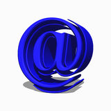 E-mail  symbol. E-mail symbol in light green 3d Stock Photos