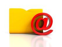 E-Mail am Symbol mit Dokumentenordner Lizenzfreie Stockfotos