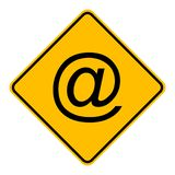E-mail symbol and road sign. As vector illustration stock illustration