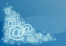 e - mail symbol tło Obraz Royalty Free