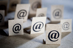 E-mail symbols stock image