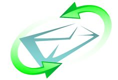 E-mail symbool Stock Foto's