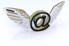 E-mail symbool met vleugels vector illustratie