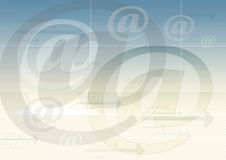 E-mail symboolachtergrond royalty-vrije illustratie