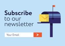 E-mail-in:tekenen-vorm exemplaar Stock Afbeelding