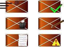 E-Mail-- und Telefonikonen Lizenzfreies Stockbild