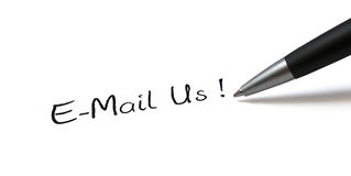 E-Mail Us stock photography