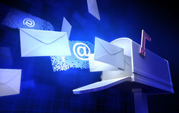 E-Mail. Various internet messages from mailbox Stock Image