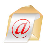 E-mail vector icon Royalty Free Stock Image