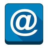 E-mail vector icon. E-mail blue vector icon stock illustration