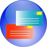 E-mail verzendt ontvangen vector illustratie