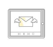 E-Mail Videoabsatzmethoden und Methoden Stockfoto