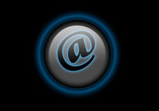 E-mail web button. E-mail button with black background - good for webdesign Stock Photos