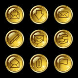 E-mail web icons Royalty Free Stock Photos