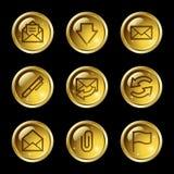 E-mail web icons Royalty Free Stock Photos