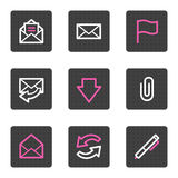 E-mail web icons Royalty Free Stock Images