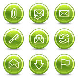 E-mail web icons Stock Image