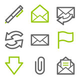 E-mail web icons Royalty Free Stock Photography