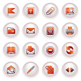 E-mail web icons. Black red series. Royalty Free Stock Photography