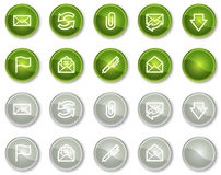E-mail web icons, circle buttons series Royalty Free Stock Image