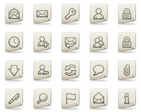 E-mail web icons, document series Royalty Free Stock Photography
