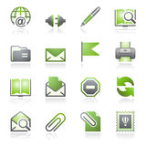 E-mail web icons. Gray and green series. Stock Image