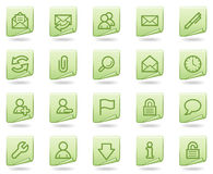 E-mail web icons, green document series Stock Photos