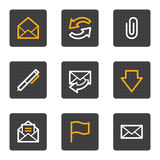 E-mail web icons, grey buttons series Royalty Free Stock Photo