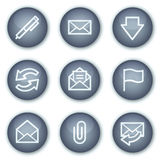 E-mail web icons, mineral circle buttons series Royalty Free Stock Photo