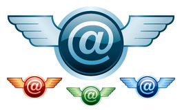 E-mail wings Royalty Free Stock Image