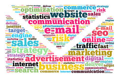 E-mail word cloud concept stock illustration