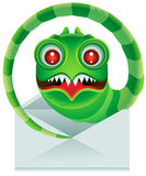 E-mail Worm stock illustratie
