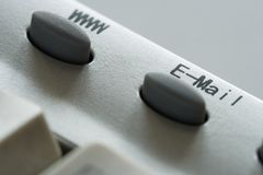 e - mail Www przycisk Zdjęcia Stock