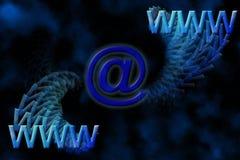 e - mail Www tło Fotografia Royalty Free
