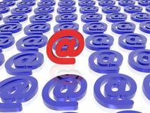 e - mail wyjątkowy Obrazy Stock