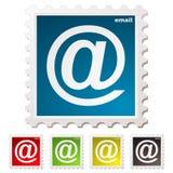 E-mail zegel Stock Foto
