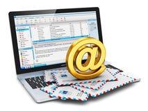 E-mailconcept Stock Foto's
