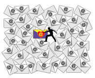 E-mailcontrole Stock Foto's