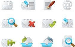 e - maile 3 emailo zestaw ikony royalty ilustracja