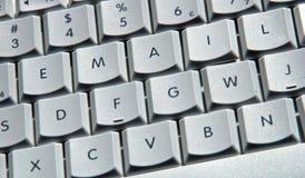 e - maile komputerowych klucze Zdjęcia Royalty Free