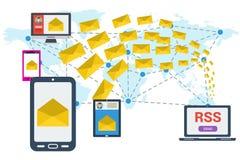 E-mailing RSS worldwide Stock Photos