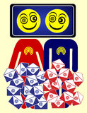 E-mailjunkies royalty-vrije illustratie