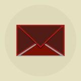 E-mailontwerp Het pictogram van de envelop Colorfullillustratie, grap Stock Foto's