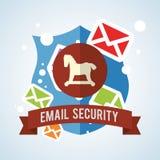 E-mailontwerp Het pictogram van de envelop illustratie, vector Stock Foto