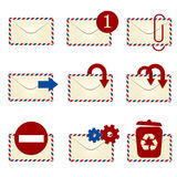 E-mailowa ikona ustawia 1 royalty ilustracja