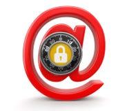 E-mailowa ochrona (ścinek ścieżka zawierać) Zdjęcia Royalty Free