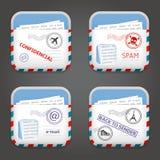 E-mailowe Apps ikony Obrazy Stock