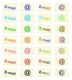 E-mailowi znaczki - cdr format Fotografia Stock