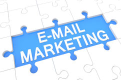 E-mailowy marketing Zdjęcia Royalty Free